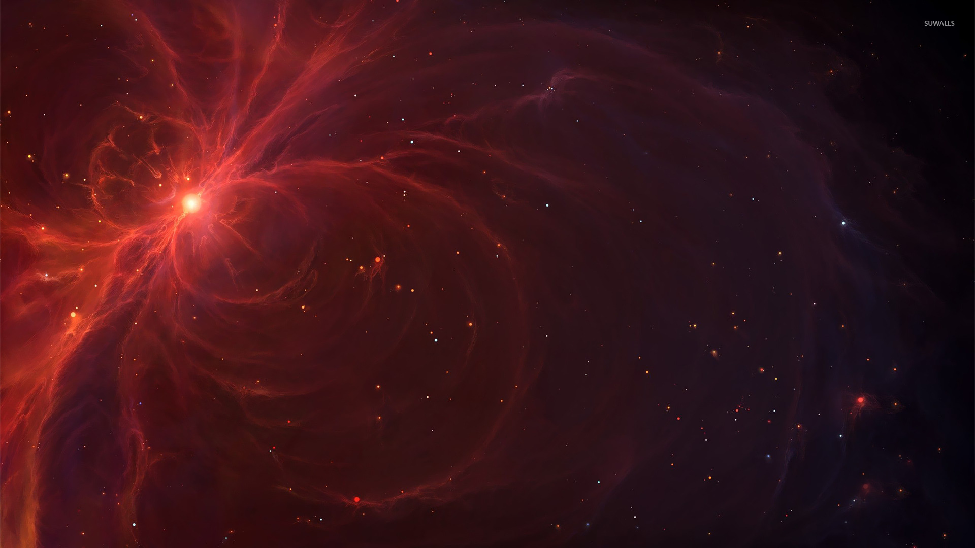 Red Nebula Wallpaper