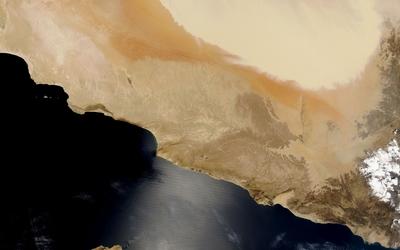 Sand storm in Iran wallpaper