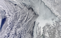 Snowy Earth from satellite wallpaper 3840x2160 jpg