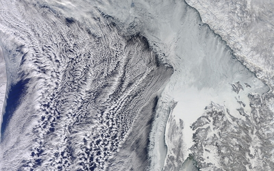 Snowy Earth from satellite wallpaper