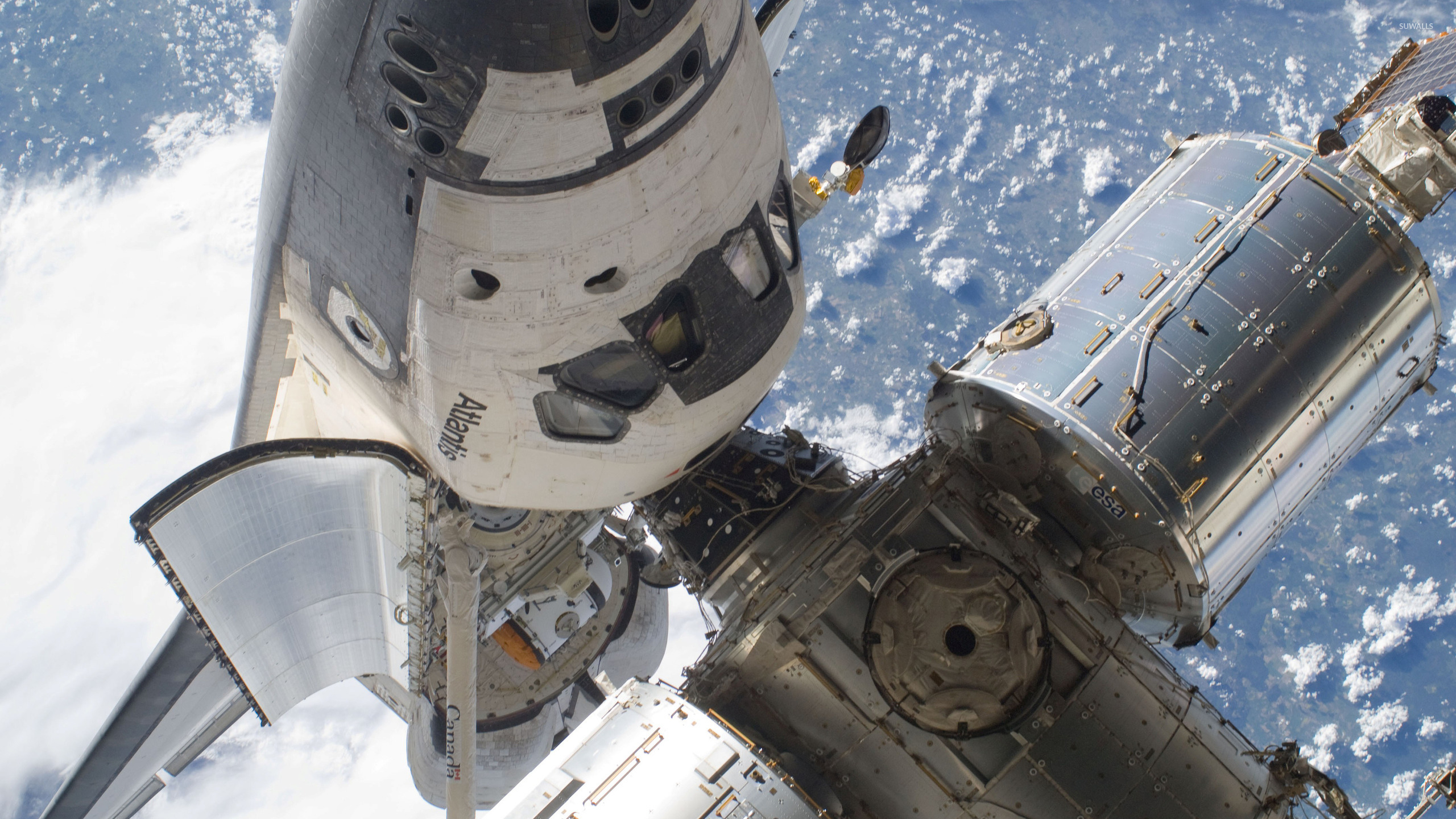 Space Shuttle Atlantis in orbit wallpaper - Space ...