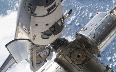 Space Shuttle Atlantis in orbit wallpaper