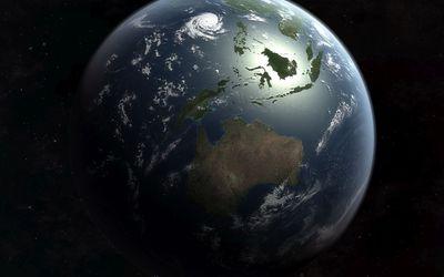 Storm on planet wallpaper