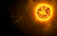Sun glowing in the universe wallpaper 1920x1080 jpg
