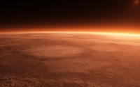 Sun rising from behind the red planet wallpaper 1920x1080 jpg