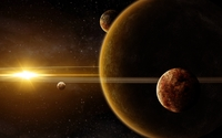 Sunlight over the planet wallpaper 3840x2160 jpg