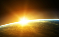 Sunrise from space wallpaper 1920x1200 jpg