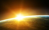 Sunrise from space wallpaper 1920x1200 jpg
