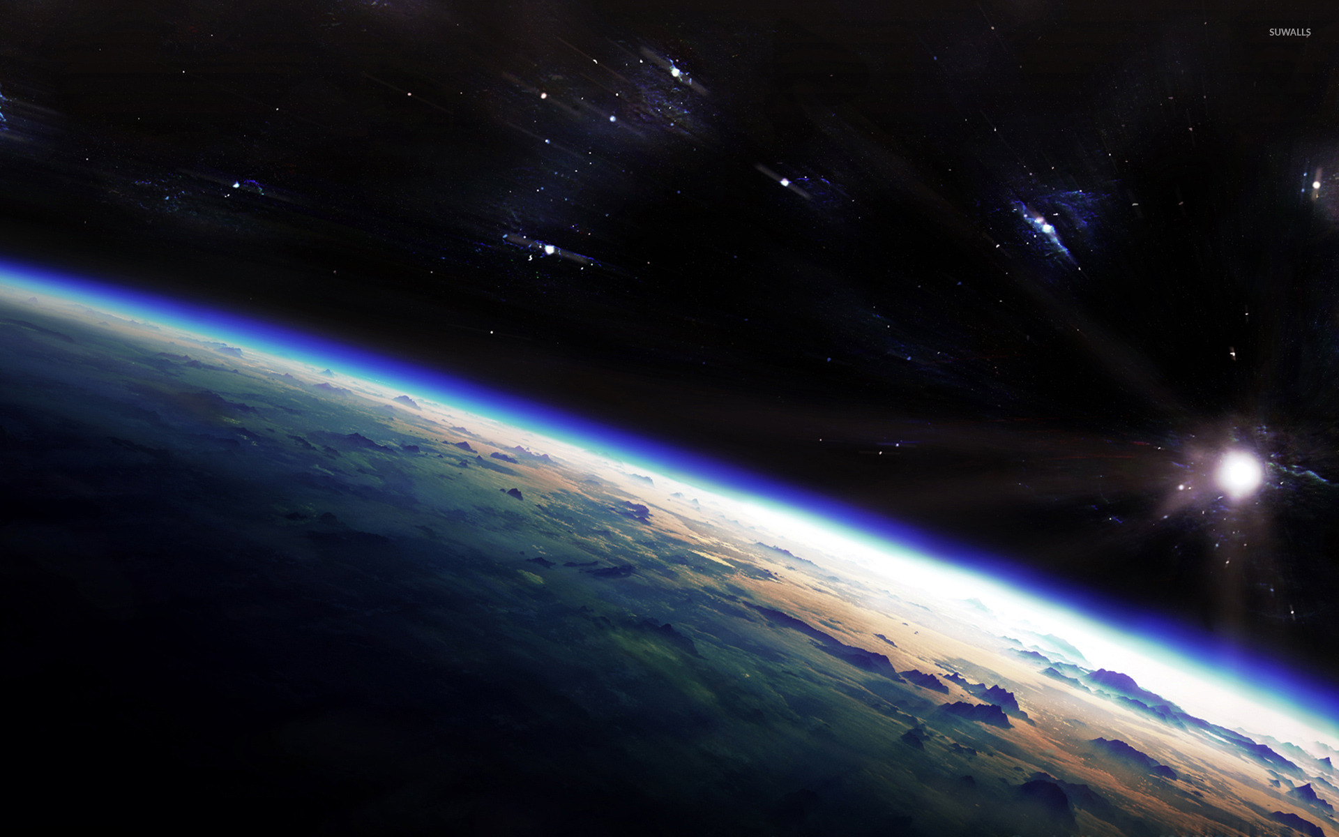 sunrise from space hd - photo #27
