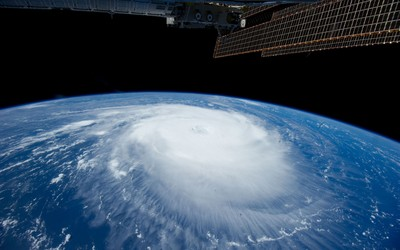 Tropical cyclone seen from outer space wallpaper