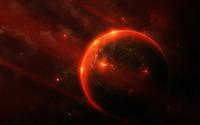Volcanic planet wallpaper 2560x1600 jpg