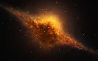 Yellow nebula wallpaper 1920x1200 jpg