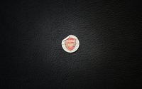 Arsenal F.C. on black leather wallpaper 1920x1200 jpg