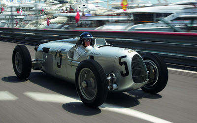 Auto Union Type C on the road wallpaper