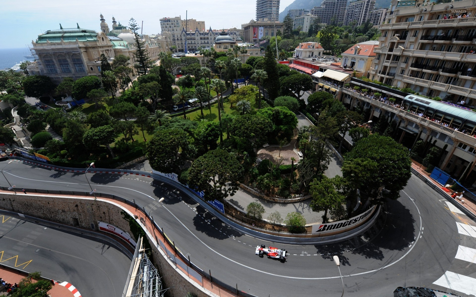 View of the grand prix of Monaco from private balcony