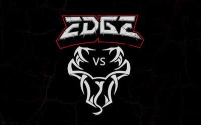 Edge vs Randy Orton logo wallpaper