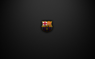 FC Barcelona on a gray texture wallpaper