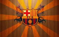 FC Barcelona on wooden background wallpaper 1920x1080 jpg