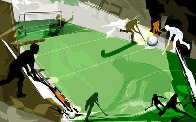 Field hockey wallpaper
