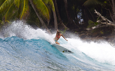 Girl surfing wallpaper