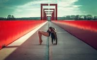 Gymnast on a bridge wallpaper 1920x1200 jpg
