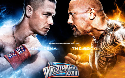 John Cena vs The Rock [2] wallpaper