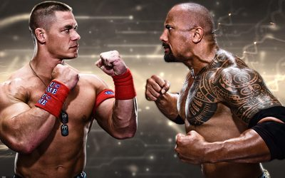 John Cena vs The Rock wallpaper