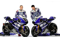Jorge Lorenzo and Ben Spies wallpaper 2880x1800 jpg