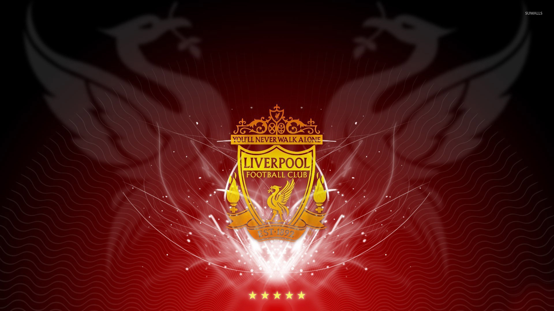 Keep Calm An You Ll Never Walk Alone Wallpaper Typography