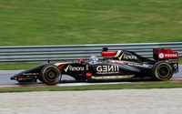Lotus E22 on the racing track wallpaper 2560x1600 jpg
