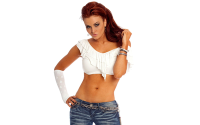 Maria Kanellis in a white top wallpaper