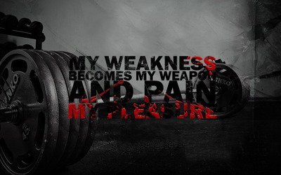 My weakness becomes my weapon Wallpaper