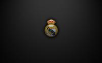 Real Madrid C.F. logo on a black texture background wallpaper 1920x1200 jpg