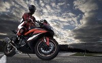 Riding a black and red motorcycle wallpaper 1920x1080 jpg