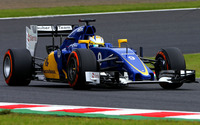 Sauber C34 on the race track wallpaper 1920x1080 jpg