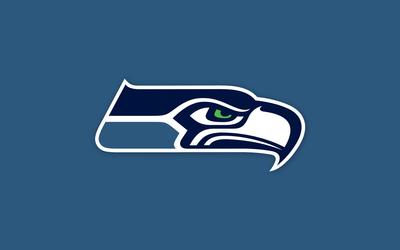 Seattle Seahawks on blue background Wallpaper