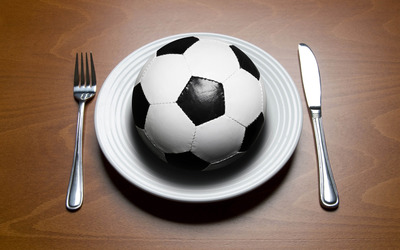 Soccer ball for lunch wallpaper