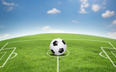 Soccer field wallpaper
