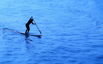 Standup paddleboarding wallpaper