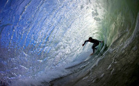 Surfing under the wave wallpaper 1920x1200 jpg
