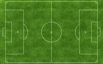 Top view of a football pitch wallpaper