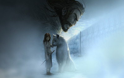Arya Stark and Nymeria wallpaper