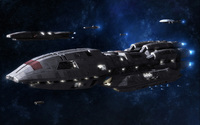 Battleships in Battlestar Galactica wallpaper 1920x1200 jpg