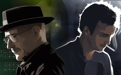 Breaking Bad main characters wallpaper