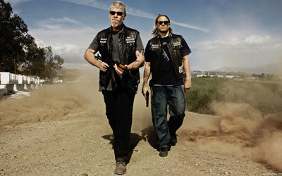 Clay and Jax - Sons of Anarchy wallpaper