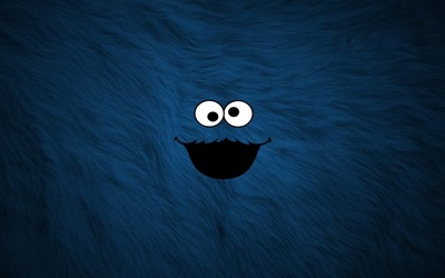 Cookie Monster from Sesame Street wallpaper
