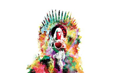 Daenerys on the Iron Throne wallpaper
