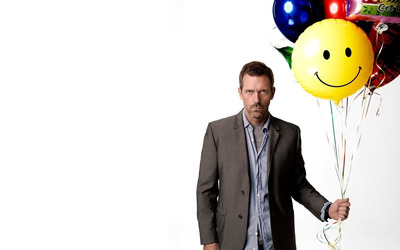 Dr. Gregory House with colorful balloons - House M.D. wallpaper