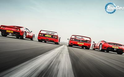 Ferrari race in Top Gear wallpaper
