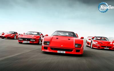 Ferraris in Top Gear wallpaper